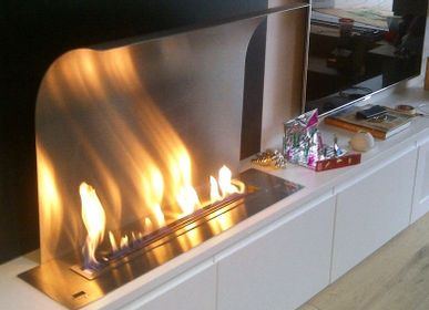 Design objects - BL 40-100 cm Ethanol Burner & Fireplace - Smart Remote Controlled Inserts AFIRE Decoration Design - AFIRE