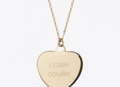 Jewelry - CASSE COUILLE necklace in gold plated - FÉLICIE AUSSI