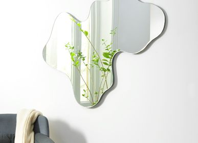 "Mirrors - MONOLOG, ""free shape"" sustainable mirror - GLASSVARIATIONS"