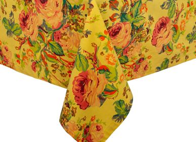 Table cloths - Tablecloth Floral Print Yellow  - ISHELA EUROPA LDA