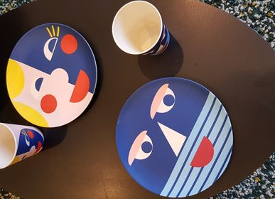 Kids accessories - Plates and cups with face - GLOBAL AFFAIRS