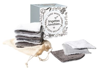 Bath towel - Reusable cleansing pads with wash net - ATELIER CATHERINE MASSON