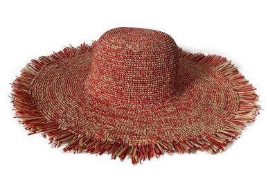 Hats - Cap Esperance Frange Hat - CAMALYA