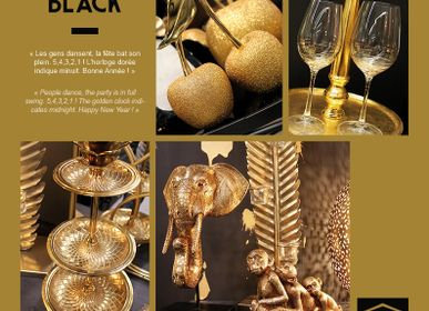 Decorative objects - HOME EDELWEISS / GOLDY BLACK - HOME EDELWEISS