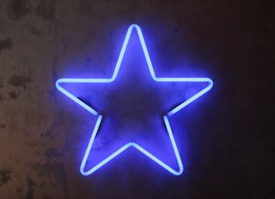 Paintings - Light STAR in neon glass - CAROLINE BAUP