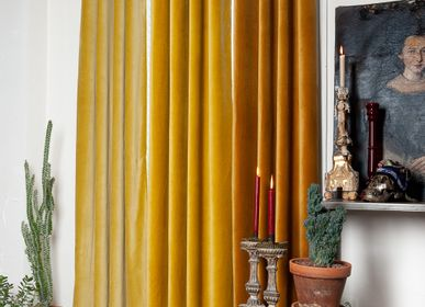 Curtains and window coverings - LYRIC Cotton Velvet Curtains - EN FIL D'INDIENNE...