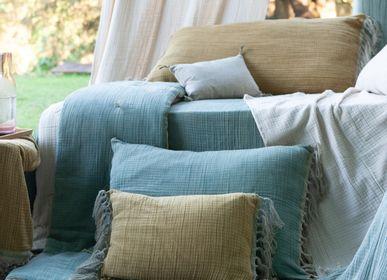 Fabric cushions - WAVY cotton cushions 35x50 cm - EN FIL D'INDIENNE...
