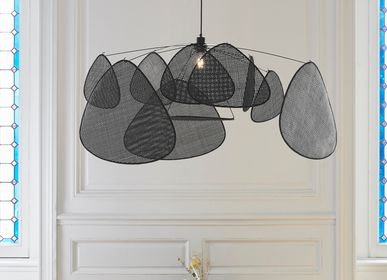Hanging lights - 1-light SCREEN black Canework pendant light - MARKET SET