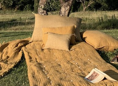 Fabric cushions - ETAMINE Cushion 30 x 45 cm washed linen - EN FIL D'INDIENNE...