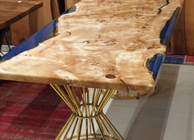 Tables - Blue epoxy maple top - DESIGNTRADE
