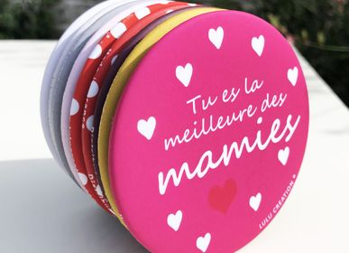 Stationery / Card shop / Writing - Magnet round format made in France - LULU CREATION®