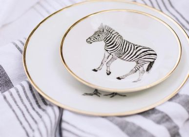 Assiettes de réception  - Large plate - Limoges porcelain - Animals design - LO DE MANUELA
