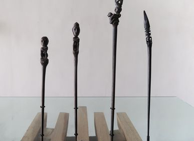 Hair accessories - Traditional Carved Wood Hairpins - NYAMAN GALLERY BALI