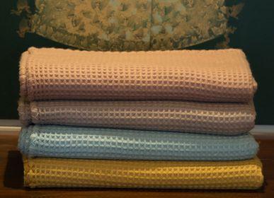 Linge de lit - Couverture tissée en cachemire gaufré - JANAVI