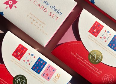 Card shop - Christmas Cards - Boxed set of 8 cards - Noël au chalet - COMMON MODERN
