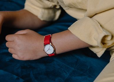 Kids accessories - Millow watch's bracelet Braided Red - MILLOW PARIS