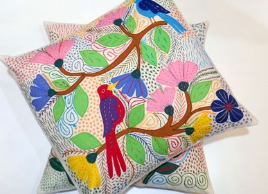 "Fabric cushions - EMBROIDERED CUSHIONS ""ALL OVER"" - MAHATSARA"
