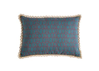 Cushions - Bee Teal green rectangular cushion cover - TRACES OF ME
