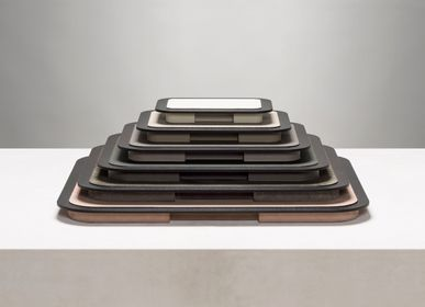 Design objects - LLOYD LEATHER & WOOD TRAYS - GIOBAGNARA