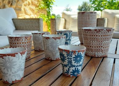 Candles - Batik ceramic scented candles - WAX DESIGN - BARCELONA