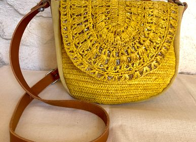Bags / totes - Bluck Raffia Messenger Bag - ESTELLON