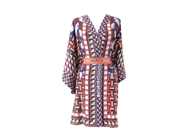 Ready-to-wear - Silk Kimono L'ART DU BAVARDINAGE - CORALIE PREVERT PARIS