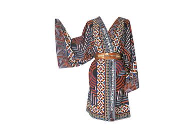 Ready-to-wear - Silk Kimono MINUTE - ON NE SE DOUTE PAS COMME C'EST LONG, UNE MINUTE. - CORALIE PREVERT PARIS