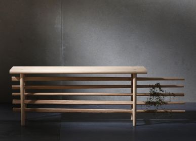 Benches - Gray bench - HALF CRAFT, HALF LIFE