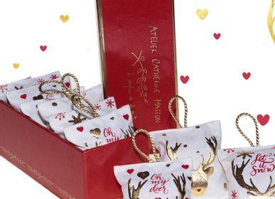 Décorations de Noël - Accroche-coeur, diffuseur de parfum, Oh my Deer ! - ATELIER CATHERINE MASSON
