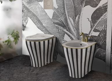 Decorative objects - Marble stone stripe Deco toilet - ARTOLETTA.EU
