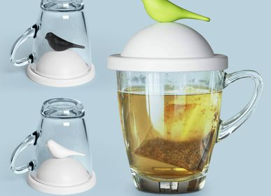 Office sets - Mug/Glass Sparrow - Kitchen Utensils: Party Glass, Tea Pot and Coffee Pot 100% Recyclable - QUALY DESIGN OFFICIAL