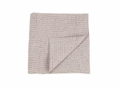 Kitchen fabrics - Set of 4 hand printed linen napkins - CONSTELLE HOME