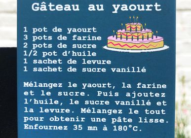 "Papeterie - Magnet recette ""Gâteau au yaourt"" made in France - LULU CREATION®"