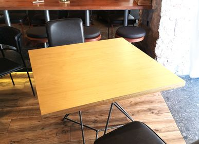 Tables for hotels -  Table Starbase with plywood top ( maple veneer ) - LIVING MEDITERANEO