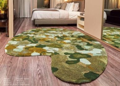 Design - Upcycling Area Rug: Aquatic Green design (DEmark Award 2020) - THE CARPET MAKER