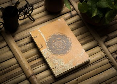 Office supplies - Handmade Vintage Aboriginal Artwork Sketchbook - DE KULTURE WORKS