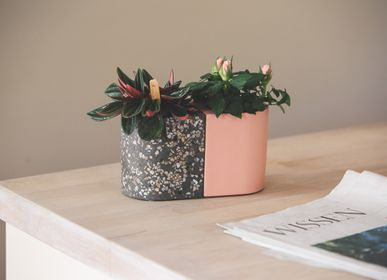 Design objects - Facet & Terrazzo | T-light _ Flowerpot _ Candle holder_ Wine Cooler - ATELIER PIERRE