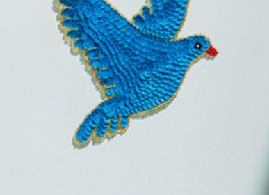 Decorative items - Blue Sequin Dove - TIENDA ESQUIPULAS