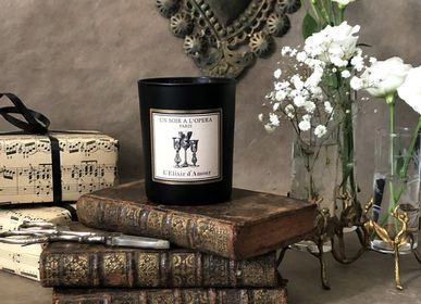 Decorative objects - Scented candle wax 100% vegetable - L'ELIXIR D'AMOUR - UN SOIR A L'OPERA