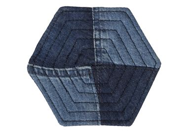 Placemats - Hexagon Coaster Denim (Pack of 4) - RENIM PROJECT