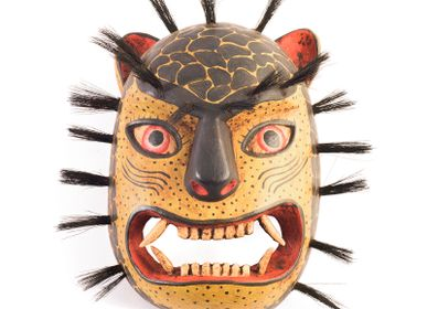 Decorative objects - Wooden Handcarved Jaguar Mask by La Casa Cotzal - NEST