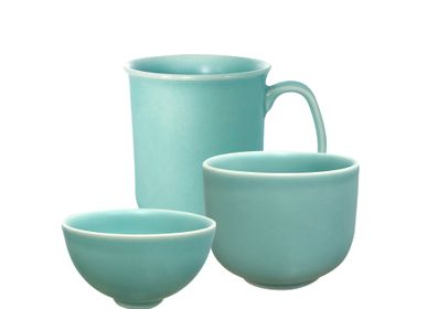 Ceramic - Bowls & Mugs Teal Feather & Matte Celadon  - ZAOZAM