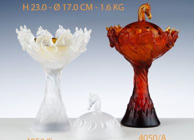 Crystalware - ROYAL HORSE INCENSE BURNER - CRISTAL DE PARIS