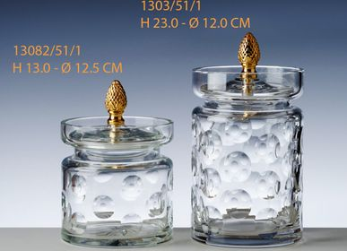 Crystalware - CANDY PASTILLE WITH GOLD BUTTON - CRISTAL DE PARIS