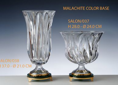 Crystalware - BOLERO SERIES ON MALACHITE BASE - CRISTAL DE PARIS