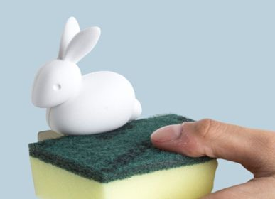 Rangements - Porte-éponge lapin : Eco-living collection Eco Living 100% recyclable - QUALY DESIGN OFFICIAL