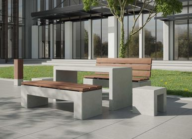 Tables pour hotels - ANGULUS TABULA Table en béton - CO33 EXKLUSIVE BETONMÖBEL