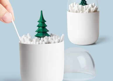 Design objects - Wintertime Cotton Bud Holder : Iceberg Bathroom Collection X'mas Christmas Gifts Eco-Friendly Materials 100% recyclable. - QUALY DESIGN OFFICIAL