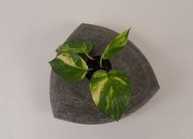 Garden accessories - Natural Slate Stone Tabletop Planters - VEN AESTHETIC CREATIONS