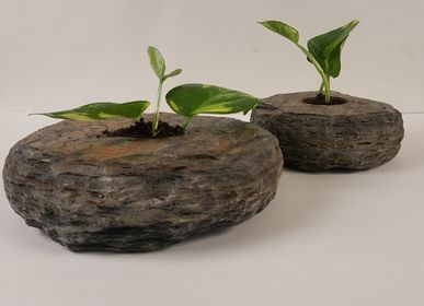 Accessoires de jardinage - Natural Slate Stone Tabletop Planter - VEN AESTHETIC CREATIONS